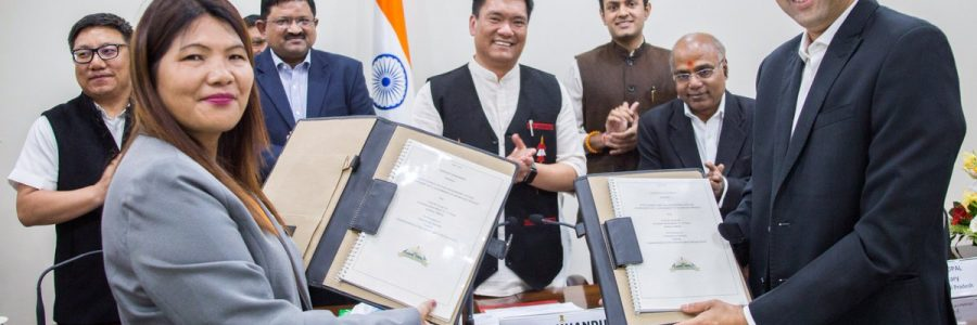 An MoU was signed today between State IT dept and Ernst & Young (EY) for developing CM's Dashboard. It will be a game changer in history of Arunachal in context of governance where status of all central and state  flagship programmes can be viewed at-a-glance.